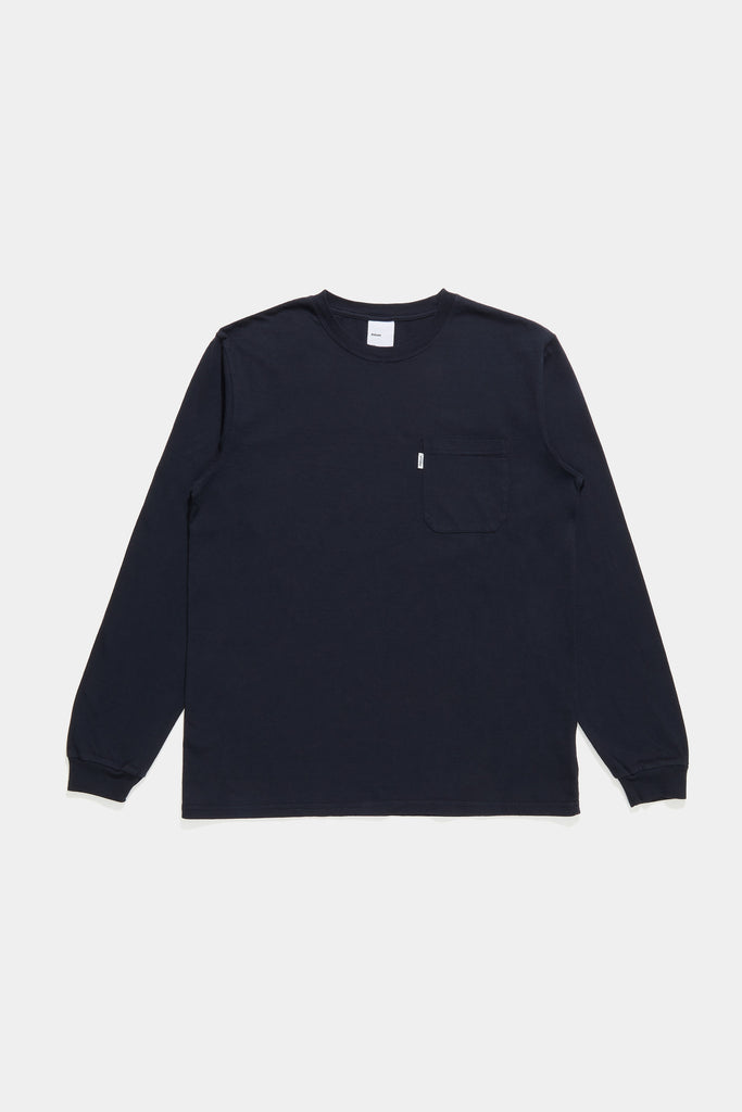 Classic Long Sleeve Pocket Tee - Navy