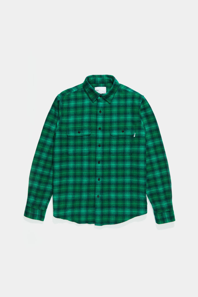 Workshirt - Bright Green Shadow Plaid