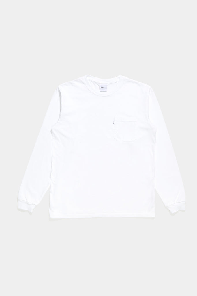 Classic Long Sleeve Pocket Tee - White