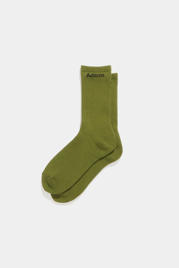 Core Logo Sock - Light Olive