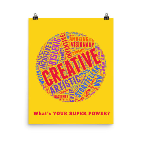 Creative Dyslexic Poster - Whats Your Super Power?