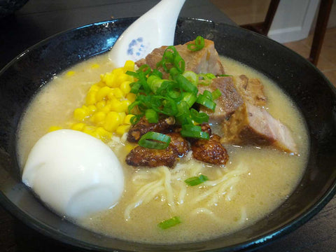 bowl of Tonkatsu broth soup