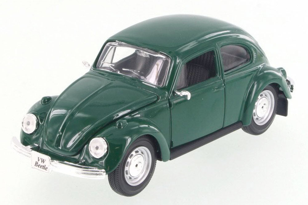Volkswagen (VW) Classic Beetle - Green - 1/24 Scale Diecast Metal Model by Maisto