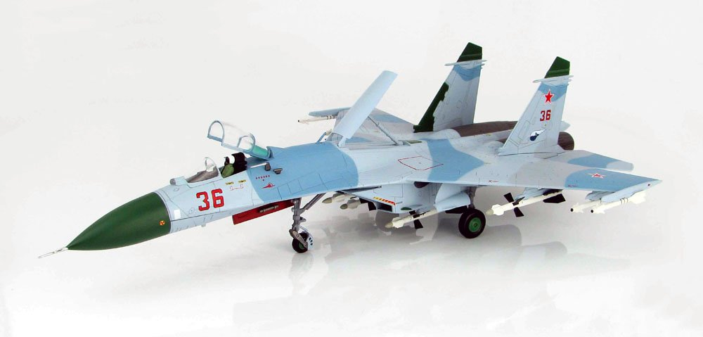 "Su-27 Flanker Rusian Air Force ""Red 36"" - 1/72 Scale Diecast Model by Hobby Master"