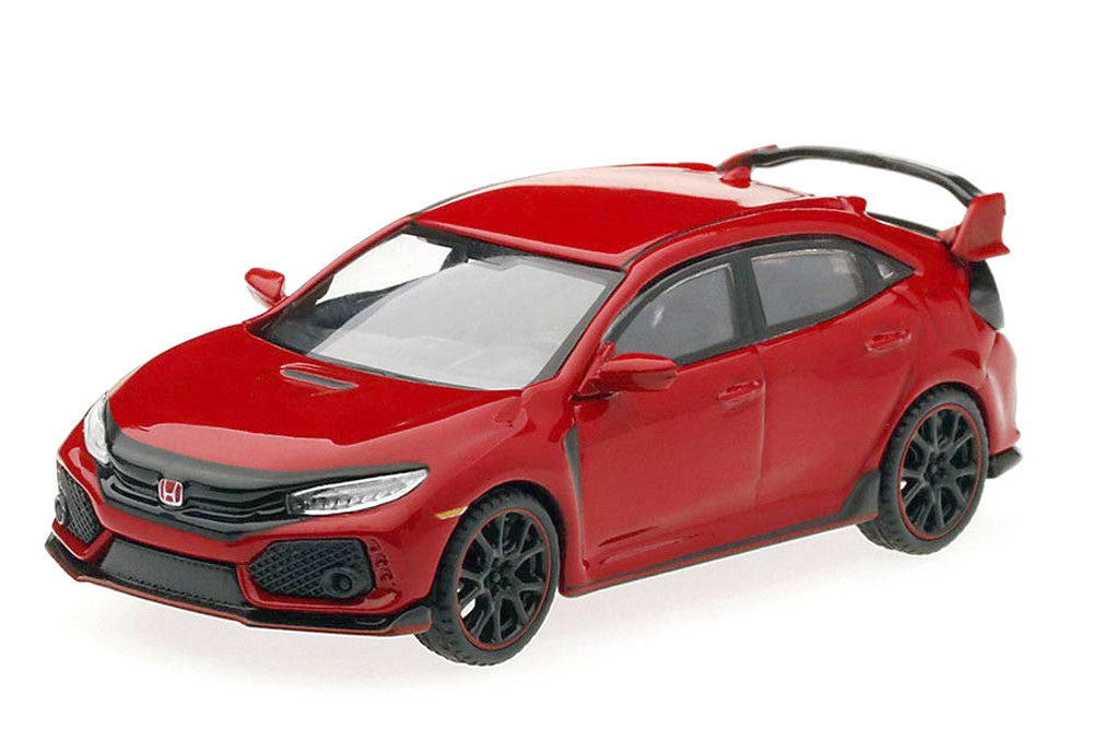 2.75 Inch 2017 Honda Civic Type R - FK8 - RED - 1/64 Scale Diecast Model by TSM Model