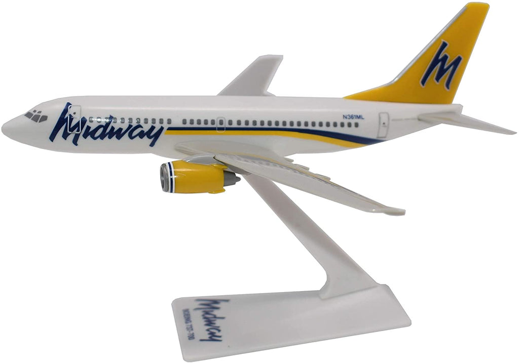 Boeing 737-700 (737) Midway Airlines 1/200 Scale Model by Flight Miniatures