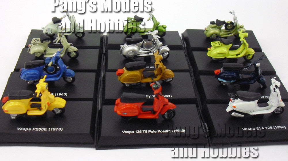 Vespa Collection of 12 different 1/32 Scale Diecast Metal Model by NewRay