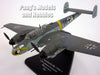 Messerschmitt Bf-110 German Bomber 1/72 Scale Diecast Metal Model by Oxford