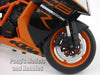 KTM 1190 RC8 R (Black) 1/10 Scale Diecast Metal Model Motorcycle by Welly