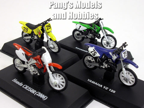 Dirt Bike Collection of 4 different 1/32 Scale Diecast Models by NewRay