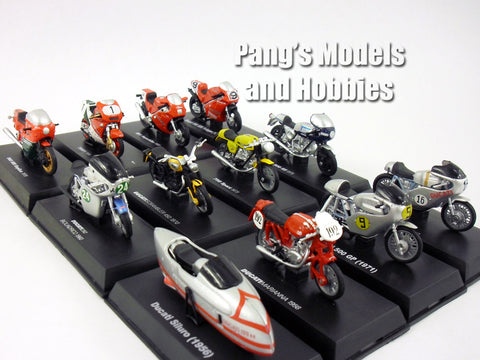 Ducati Collection of 12 different 1/32 Scale Diecast Metal Models by NewRay