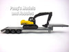 Kenworth W900 Yellow Truck with Backhoe/Excavator 1/43 Scale Model by NewRay