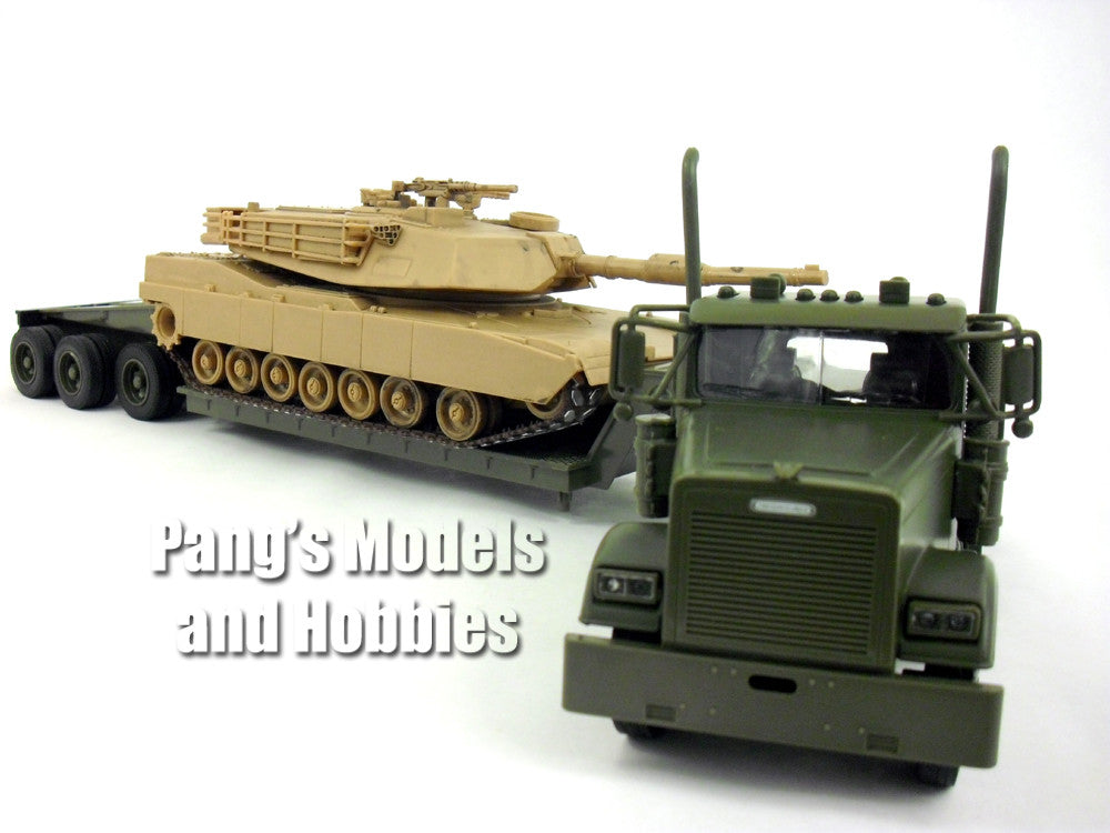 Freightliner Lowboy With M1 Abrams Tank 1/32 Scale Diecast and Plastic Model by Newray