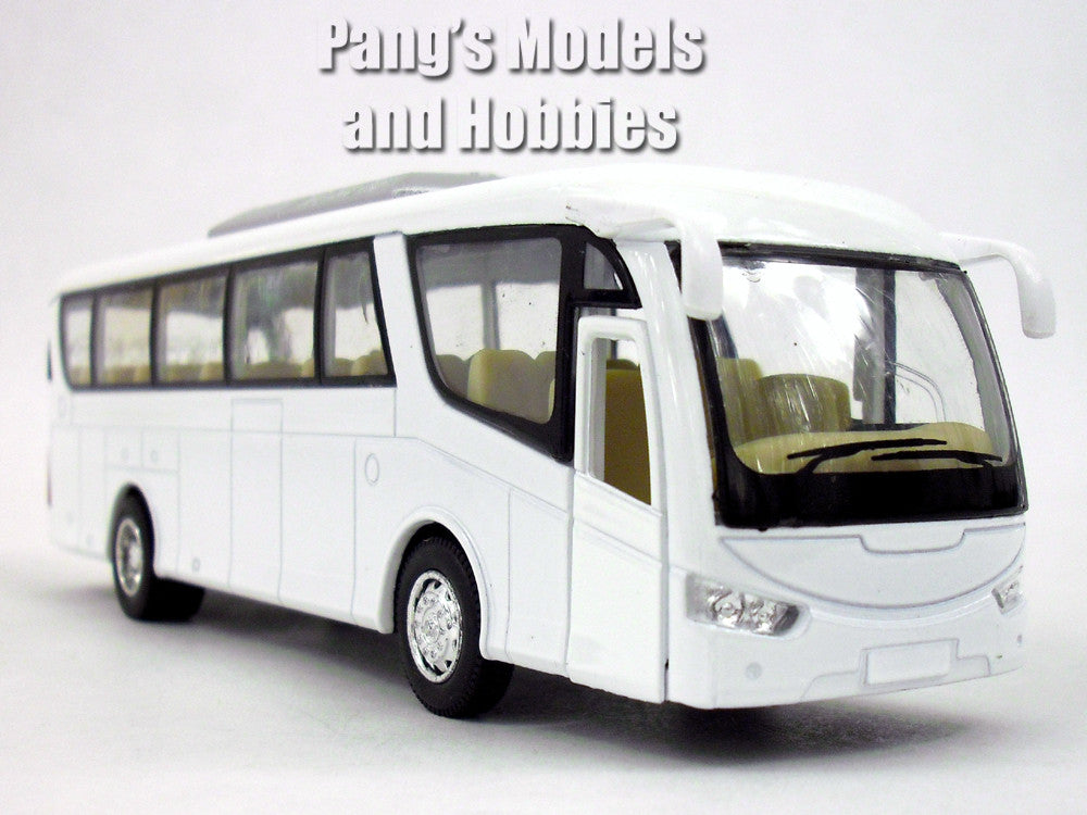 White/Blank Coach Bus Scale Diecast Metal Model by Kinsmart