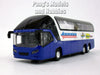 Airport Coach Travel Bus 7.75 inch Long with Light and Sound Diecast Model