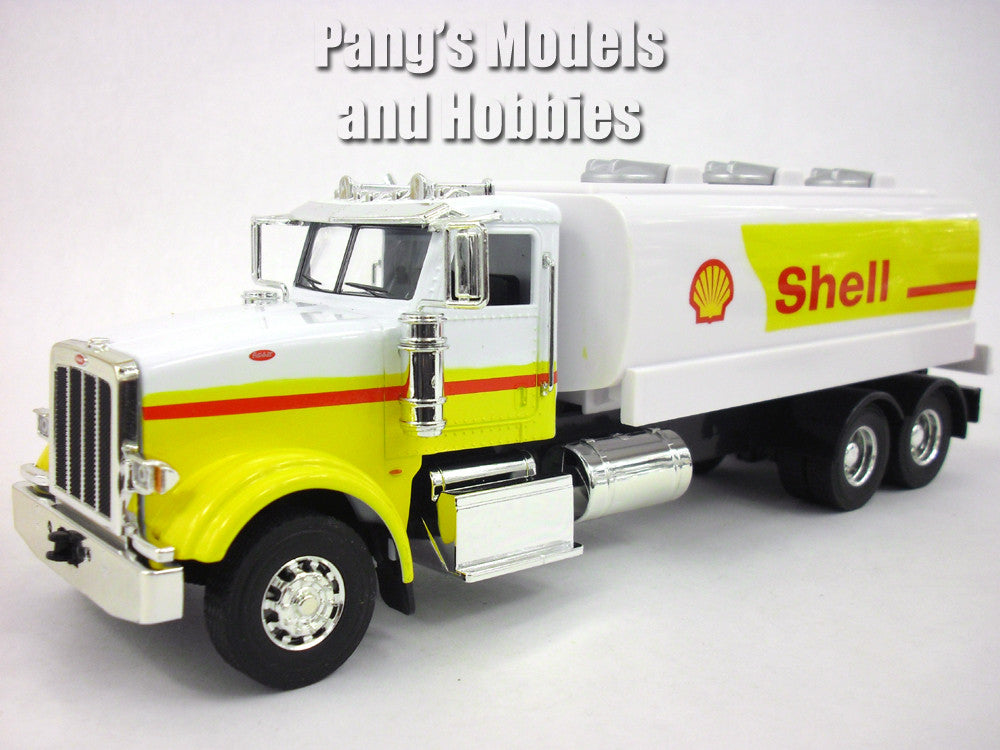Peterbilt 367 Shell Oil Tanker Truck 1/32 ScaleDie cast Metal and Plastic Model by Automaxx