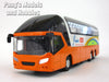 Premiere Coach Travel Bus 7.75 inch Long with Light and Sound Diecast Model