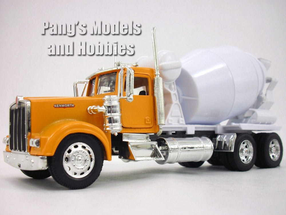 Orange/Yellow Kenworth W900 Cement Truck Diecast Metal 1/32 Scale Model by NewRay