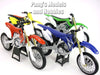Set of 4  Dirt/Motocross Motorcycles Collection 1/12 Scale Model by NewRay