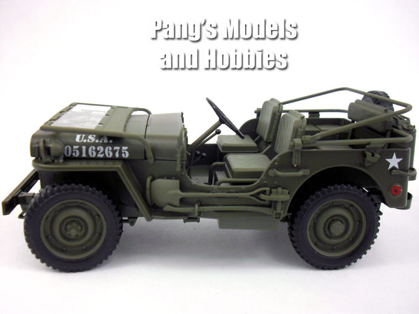 Willys Mb 1 4 Ton Army Truck Jeep 1 18 Scale Diecast