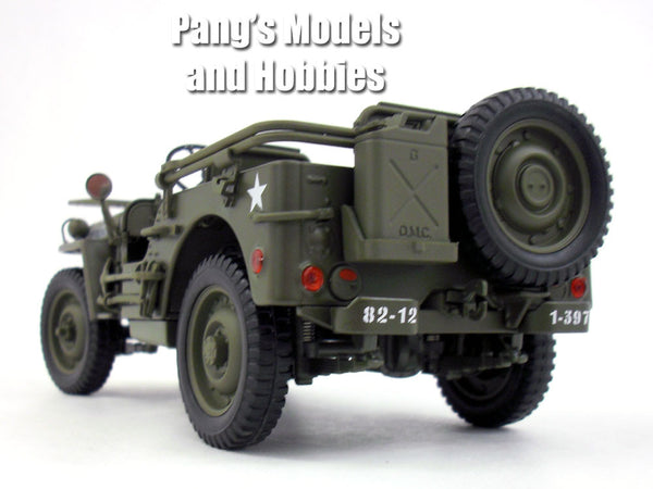 willys mb  ton army truck jeep  scale diecast metal model  pangs models  hobbies