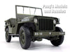 Willys MB 1/4 Ton Army Truck - Jeep 1/18 Scale Diecast Metal Model by Welly