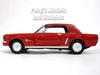 Ford Mustang 1964 1/2 (1964.5) Coupe 1/24 Scale Diecast Metal Model by Motormax