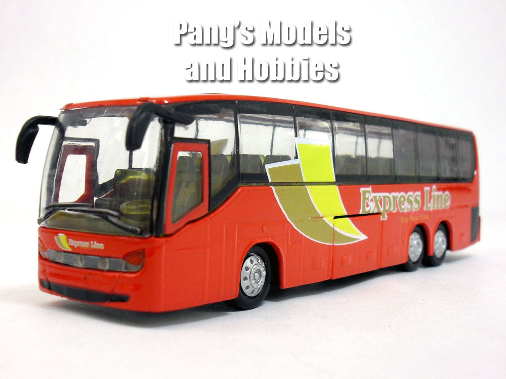 7.25 inch Long Coach Bus  with Light and Sound Diecast Model