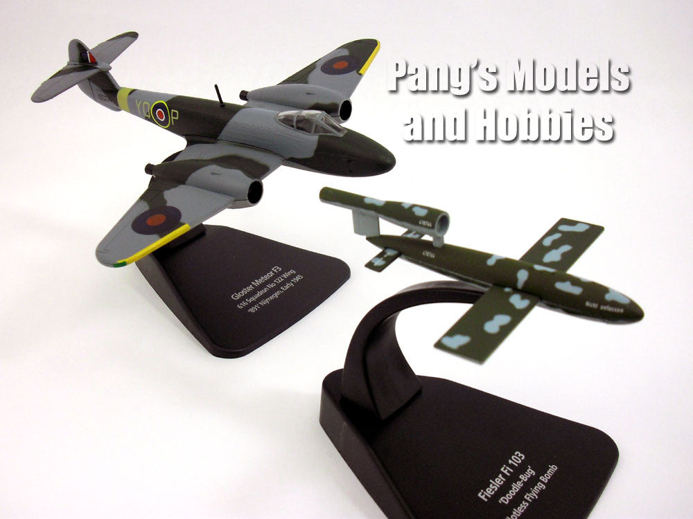 Gloster Meteor and Fi-103 Flying Bomb 1/72 Scale Diecast Metal Model by Oxford