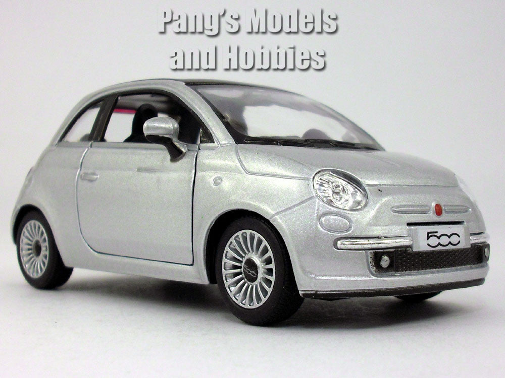 2007 New Fiat 500 1/28 Scale Diecast Metal Model by Kinsmart