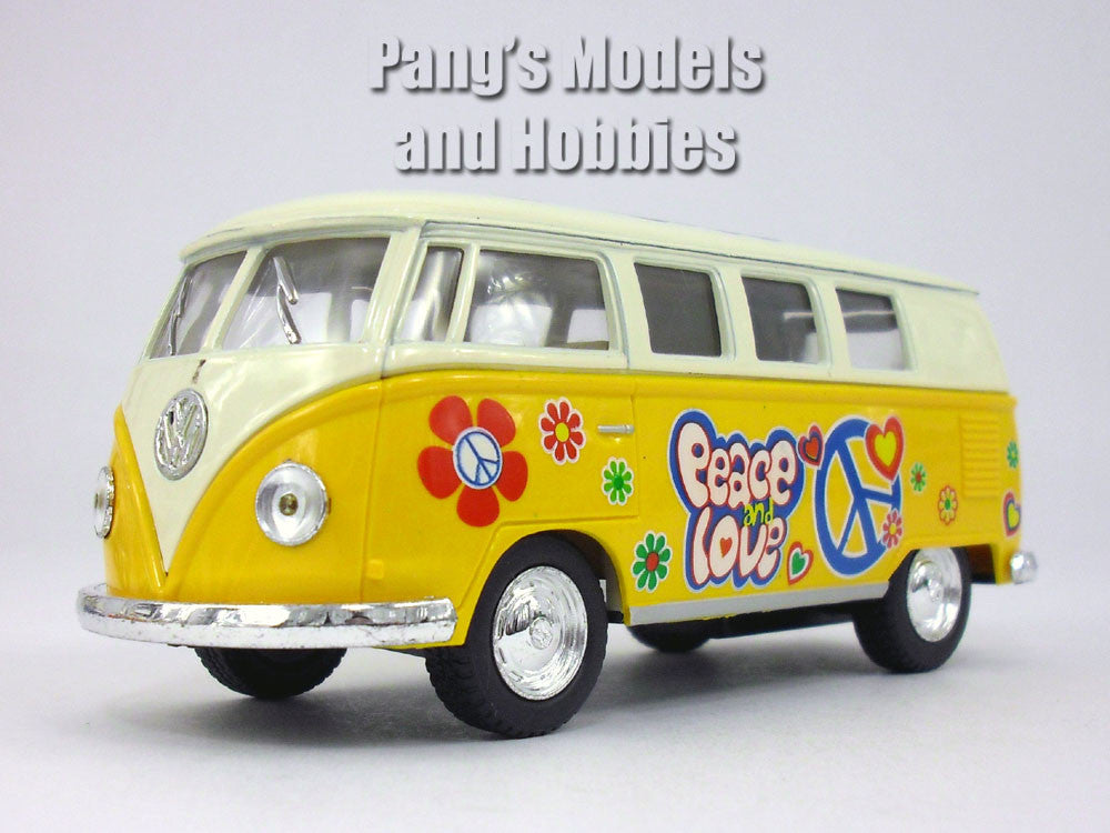 "Volkswagen -VW T1 (Type 2) ""Peace and Love""  Bus 1/32 Scale Diecast & Plastic Model by Kinsmart"