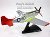 North American P-51 Mustang Tuskegee Airmen Red Tails 1/100 Scale Diecast Metal Model by Daron