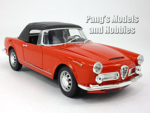 1960 Alfa Romeo 2600 Spider 1/24 Scale Diecast Metal Car Model  by Welly