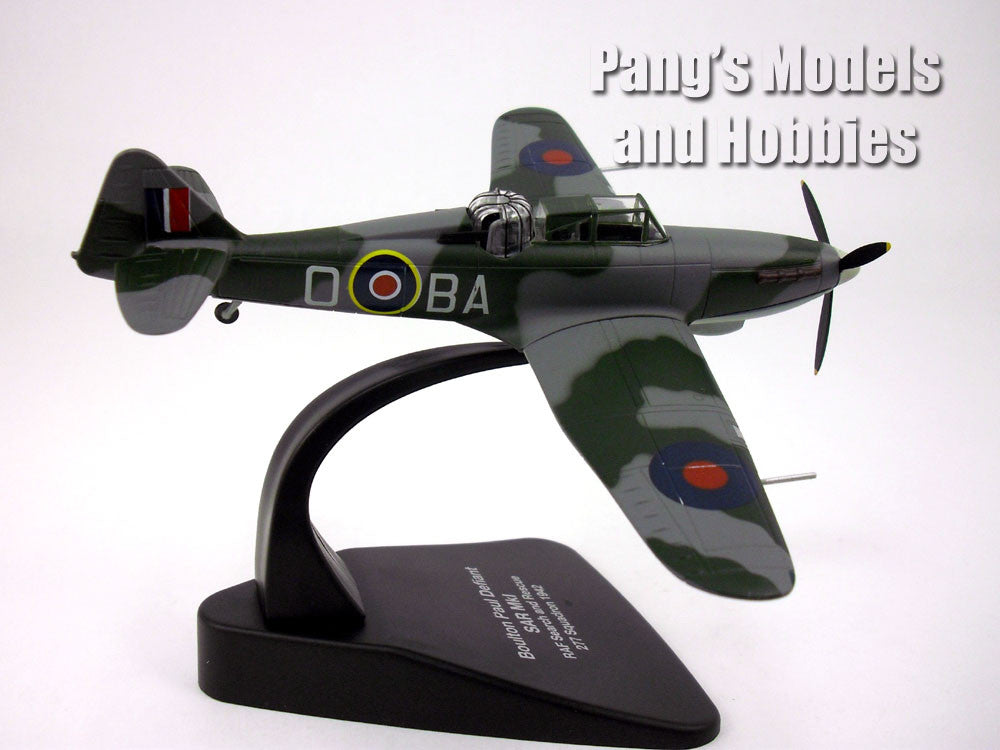 Boulton Paul Defiant Turret Fighter RAF 1/72 Scale Diecast Metal Model by Oxford