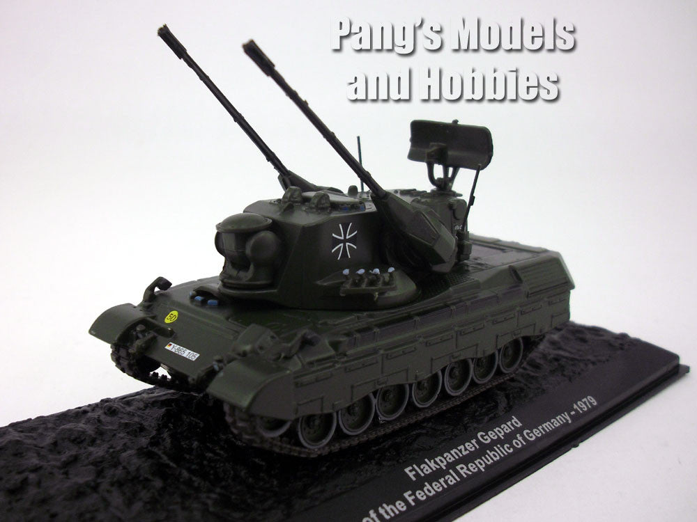"Flakpanzer Gepard ""Cheetah anti-aircraft tank"" 1/72 Scale Diecast Metal Model by Altaya"