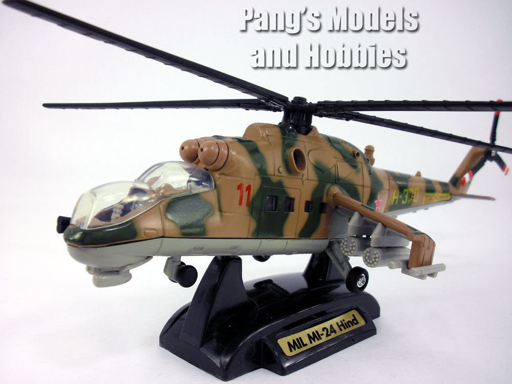 Mil Mi-24 Hind Helicopter Gunship 1/60 Scale Diecast Model by MotorMax