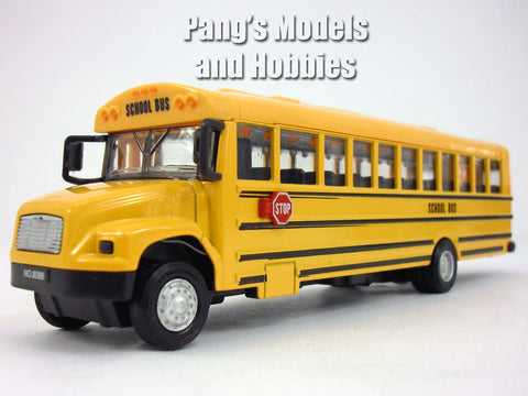 7.75 inch School Bus with Light and Sound Diecast Model