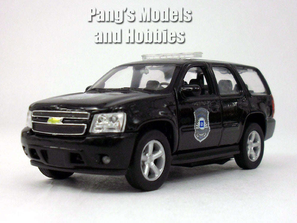 4.5 Inch Chevy Tahoe Black Police Patrol Scale Diecast Model by Welly