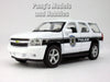 4.5 Inch Chevy Tahoe White Police Patrol Scale Diecast Model by Welly