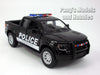 Ford F-150 SVT  Black Raptor Police 1/46 Scale Diecast Model by Kinsmart