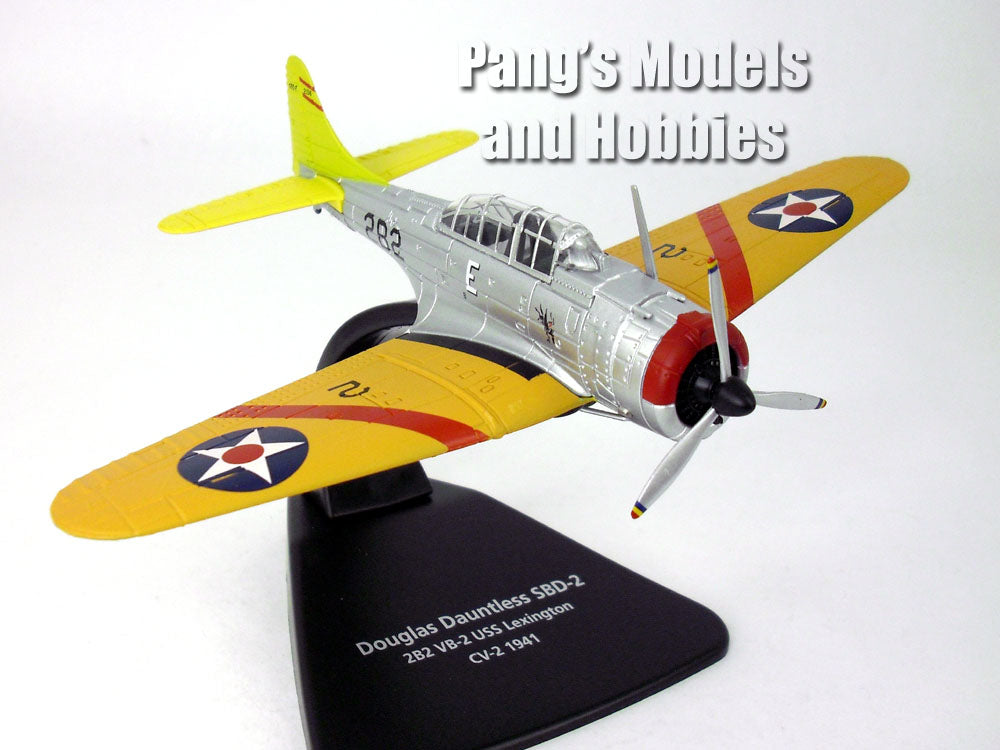 Douglas Dauntless SBD-2 Dive Bomber USS Lexington 1941 1/72 Scale Diecast Metal Model by Oxford