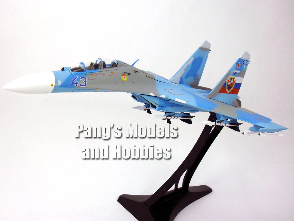SU-27 (SU-27UB) Flanker-C Russian Air Force  Blue Camo 43 1/72 Diecast Metal Model by JC Wings