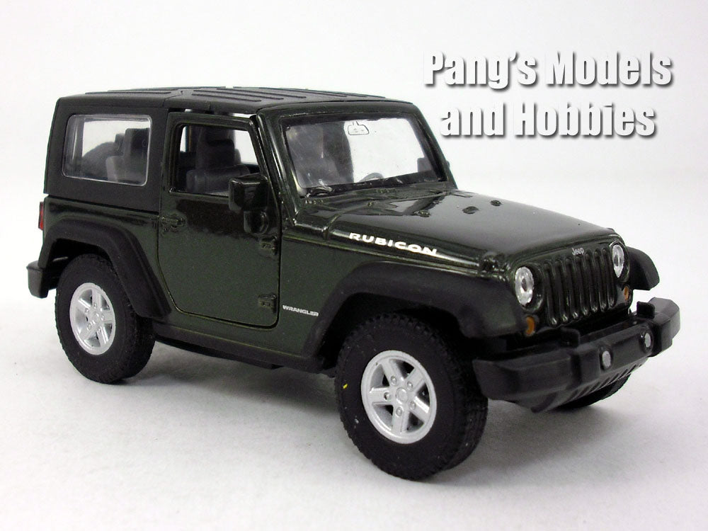 4.25 Inch Jeep Wrangler Rubicon Hard Top 1/32 Scale Diecast Metal Model By  Welly