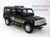 5 inch Land Rover Defender Police Patrol Station Wagon Scale Diecast Metal Model by Unifortune