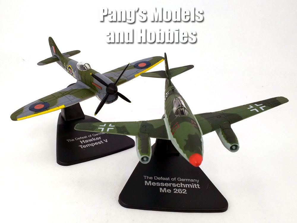 Me-262 vs Hawker Tempest - TWIN PACK -1/72 Scale Diecast Metal Model by Atlas