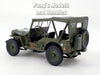 Willys MB Jeep - 1/4 Ton Military Vehicle Soft Top 1/43 Scale Diecast Metal Model by Cararama