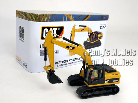 CAT 320D L Excavator HO Scale (1/87) - Diecast Model - Diecast Masters