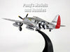 "Republic P-47 Thunderbolt ""Silver Lady"" 1/72 Scale Diecast Metal Model by Amercom"
