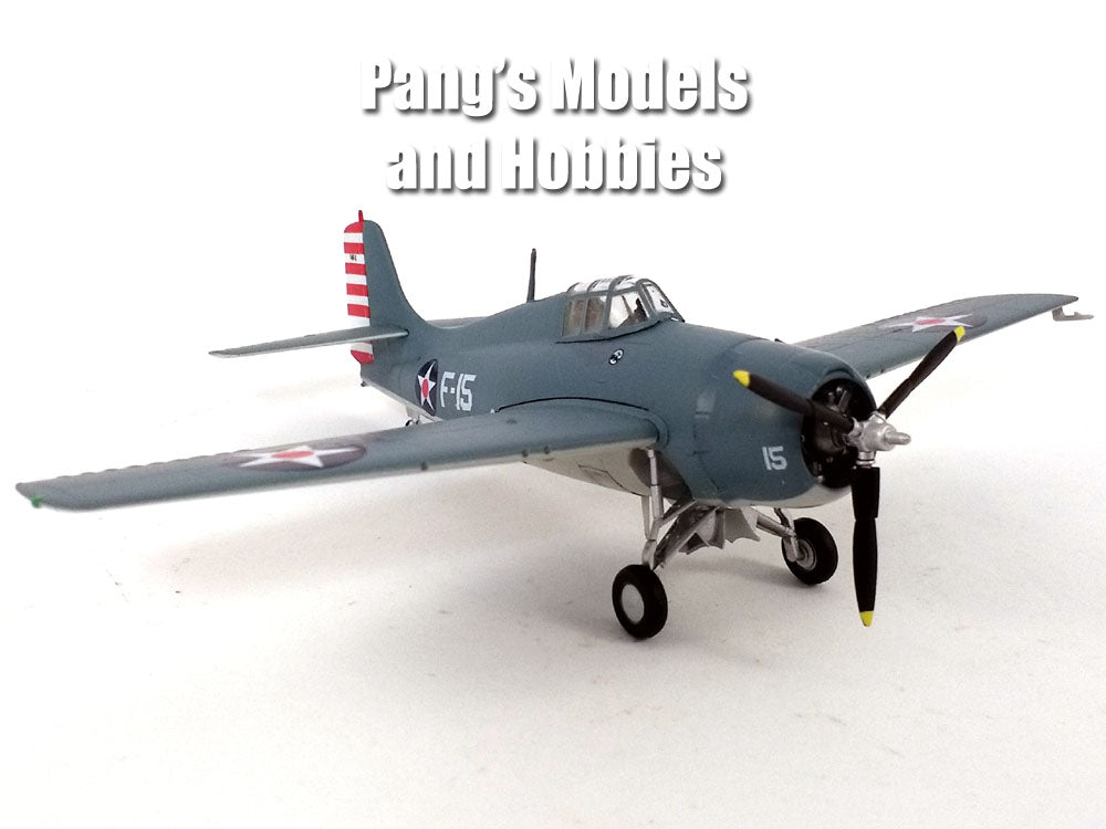 Grumman F4F Wildcat VF-3 USS Lexington 1/72 Scale Assembled and Painted Plastic Model by Easy Model