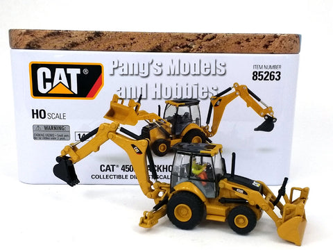 CAT 450E Backhoe Loader HO Scale (1/87) - Diecast Model - Diecast Masters